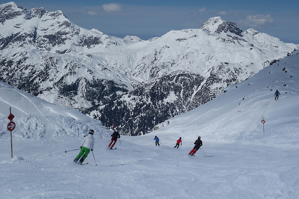 Skiing from top of Madloch Lift, Zurs Ski Area, Austria .  John offers private photo tours in Denver, Boulder and throughout Colorado, USA.  Year-round. .  John offers private photo tours in Denver, Boulder and throughout Colorado. Year-round.