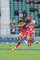 Romain Ntamack of Toulouse takes a penalty kick during the Heineken Champions Cup Final match between La Rochelle and Toulouse at Twickenham Stadium on Saturday 22 May 2021 (Photo by Rob Munro/Stewart Communications)
