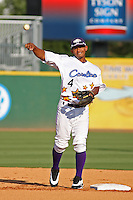 Winston-Salem Dash shortstop Eduardo Escobar of the Carolina League All- Stars taking infield before the California League vs. Carolina League All-Star game held at BB&T Coastal Field in Myrtle Beach, SC on June 22, 2010.  The California League All-Stars defeated the Carolina League All-Stars by the score of 4-3.  Photo By Robert Gurganus/Four Seam Images