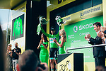 Peter Sagan (SVK) Bora-Hansgrohe retains the points Green Jersey at the end of Stage 8 of the 2019 Tour de France running 200km from Macon to Saint-Etienne, France. 13th July 2019.<br /> Picture: ASO/Thomas Maheux   Cyclefile<br /> All photos usage must carry mandatory copyright credit (© Cyclefile   ASO/Thomas Maheux)