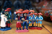 Pernambuco State, Brazil. Typical ceramic figures of Cangaceiro bandits from the Sertao region.