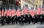 A general view of particpants marching in the annual St. Patrick's Day Parade in New York City on March 17, 2011.