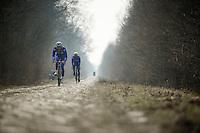 Paris-Roubaix 2013 RECON at Bois de Wallers-Arenberg..Yoann Offredo (FRA)