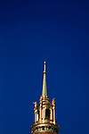 A closed up view of the golden dome of the dome church. Hotel les Invalides. Paris. city of Paris. France