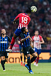 Gelson Martins of Atletico de Madrid heads the ball during their International Champions Cup Europe 2018 match between Atletico de Madrid and FC Internazionale at Wanda Metropolitano on 11 August 2018, in Madrid, Spain. Photo by Diego Souto / Power Sport Images