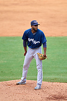 Lakeland Flying Tigers pitcher Isrrael De La Cruz (36) during a game against the Tampa Tarpons on July 18, 2021 at George M. Steinbrenner Field in Tampa, Florida.  (Mike Janes/Four Seam Images)