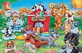 Janet, CUTE ANIMALS, puzzle, paintings, Animal Care 1(USJS35,#AC#) illustrations, pinturas, rompe cabeza