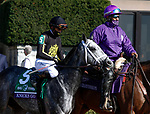 November 7, 2020 : Knicks Go, ridden by Joel Rosario, wins the Big Ass Fans Dirt Mile on Breeders' Cup Championship Saturday at Keeneland Race Course in Lexington, Kentucky on November 7, 2020. Candice Chavez/Breeders' Cup/Eclipse Sportswire/CSM