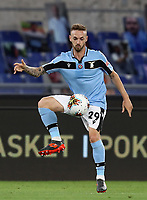 Football, Serie A: S.S. Lazio - Cagliari, Olympic stadium, Rome, July 23, 2020. <br /> Lazio's Manuel Lazzari in action during the Italian Serie A football match between Lazio and Cagliari at Rome's Olympic stadium, Rome, on July 23, 2020. <br /> UPDATE IMAGES PRESS/Isabella Bonotto