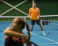 Netherlands, September 24, 2015, Almere, NTC, Bondscoach Rolstoeltennis, Coach Wheelchair tennis, Dennis Sporrel<br /> Photo: Tennisimages/Henk Koster