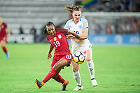 Orlando, FL - Wednesday March 07, 2018: Crystal Dunn during the She Believes Final Cup Match featuring USA Women's National Team vs. Englands Women's National Team