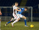 St Johnstone v Inverness Caley Thistle…09.03.16  SPFL McDiarmid Park, Perth<br />Murray Davidson and Iain Vigurs<br />Picture by Graeme Hart.<br />Copyright Perthshire Picture Agency<br />Tel: 01738 623350  Mobile: 07990 594431