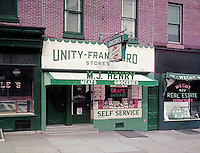 Unity - Frankford Stores. MJ Henry Meats & Grocery Store. 1958