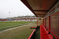 A view from the dugout during Stevenage vs Blackpool, Sky Bet EFL League 2 Football at the Lamex Stadium on 10th December 2016