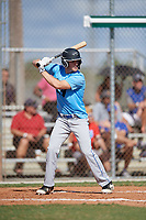 Michael Taylor during the WWBA World Championship at the Roger Dean Complex on October 19, 2018 in Jupiter, Florida.  Michael Taylor is a first baseman from Basking Ridge, New Jersey who attends Gill St. Bernard's School.  (Mike Janes/Four Seam Images)