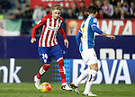 Atletico de Madrid's Jose Maria Gimenez (l) and Espanyol's Alvaro Gonzalez during La Liga match. November 28,2015. (ALTERPHOTOS/Acero)