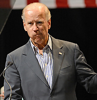 TAMARAC, FL - SEPTEMBER 28: U.S. Vice President Joe Biden speaks during a campaign event at Kings Point.  Biden continues to campaign across the country before the general election.  On September 28, 2012 in Tamarac, Florida. <br /> <br /> People:  Joe Biden