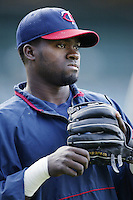 Cristian Guzman of the Minnesota Twins before a 2002 MLB season game against the Los Angeles Angels at Angel Stadium, in Anaheim, California. (Larry Goren/Four Seam Images)