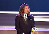 USA star Cobi Jones assists with the final draw. The final draw for the 2006 FIFA World Cup took place in the Congress Centre in Leipzig, Germany on December 9 2005.