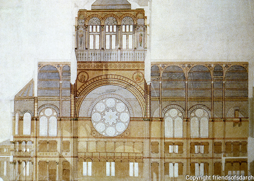 H.H. Richardson: Trinity Church, Boston, MA. 1873-77. Romanesque style