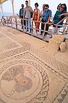Kourion, Mosaic-Work, Antique Theater, Tourists, Kourion, Episkopi near Limassol, Cyprus, Zypern