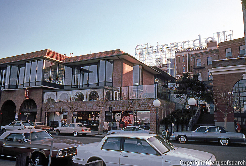 San Francisco: Ghirardelli Square from Beach Street.  Photo '83.
