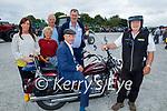 Michael Healy Rae TD ready to take to the road on his Dragstar Bike, l to r: Michelle Culloty (Killcummin), John and Josephine Buckley (Cork), Eamon Curtin (Knocknagoshel) and John Treacy (Castleisland).