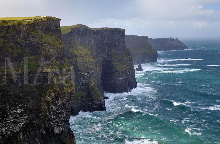 The Cliffs of Mohr, Hag's Head, The Burren, County Clare, Republic of Ireland