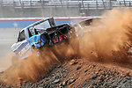Stadium Super Trucks wreck during the race before the O'REILLY AUTO PARTS 500 MONSTER ENERGY NASCAR CUP SERIES RACE at the Texas Motor Speedway in Fort Worth,Texas.