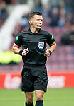 St Johnstone v Hearts…29.09.18…   Tynecastle     SPFL<br />Referee Nick Walsh<br />Picture by Graeme Hart. <br />Copyright Perthshire Picture Agency<br />Tel: 01738 623350  Mobile: 07990 594431