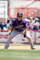 May 31, 2009:  Second Baseman Jared Head of the Akron Aeros leads of first base during a game at Jerry Uht Park in Erie, NY.  The Aeros are the Eastern League Double-A affiliate of the Cleveland Indians.  Photo by:  Mike Janes/Four Seam Images