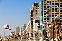 Israel,Tel Aviv, Sea shore promenade
