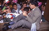 Umberto Bossi, comizio a Como 1996, lega nord
