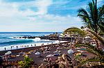 Spanien, Kanarische Inseln, Teneriffa, Puerto de Santiago: Playa de la Arena | Spain, Canary Islands, Tenerife, Puerto de Santiago: Playa de la Arena