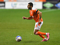 Blackpool's Keshi Anderson<br /> <br /> Photographer Dave Howarth/CameraSport<br /> <br /> EFL Trophy - Northern Section - Group G - Blackpool v Leeds United U21 - Wednesday 11th November 2020 - Bloomfield Road - Blackpool<br />  <br /> World Copyright © 2020 CameraSport. All rights reserved. 43 Linden Ave. Countesthorpe. Leicester. England. LE8 5PG - Tel: +44 (0) 116 277 4147 - admin@camerasport.com - www.camerasport.com
