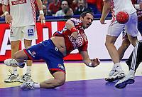 Alem Toskic during men`s EHF EURO 2012 championship semifinal handball game between Serbia and Croatia in Belgrade, Serbia, Friday, January 27, 2011.  (photo: Pedja Milosavljevic / thepedja@gmail.com / +381641260959)