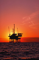 Offshore oil platform in the Santa Barbara Channel