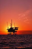 Offshore oil platform in the Santa Barbara Channel