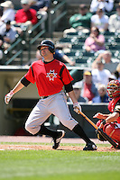 May 13, 2009:  Designated Hitter Neil Walker of the Indianapolis Indians, International League Class-AAA affiliate of the Pittsburgh Pirates, at bat during a game at Frontier Field in Rochester, FL.  Photo by:  Mike Janes/Four Seam Images
