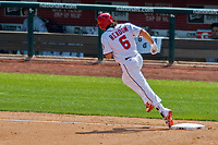 30 April 2017: Washington Nationals third baseman Anthony Rendon rounds third after hitting his second of three home runs in the 4th inning against the New York Mets at Nationals Park in Washington, DC. The Nationals defeated the Mets 23-5, with the Nationals setting several individual and team records, in the third game of their weekend series. Mandatory Credit: Ed Wolfstein Photo *** RAW (NEF) Image File Available ***