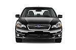 Car photography straight front view of a 2015 Subaru Impreza premium 4 Door Sedan