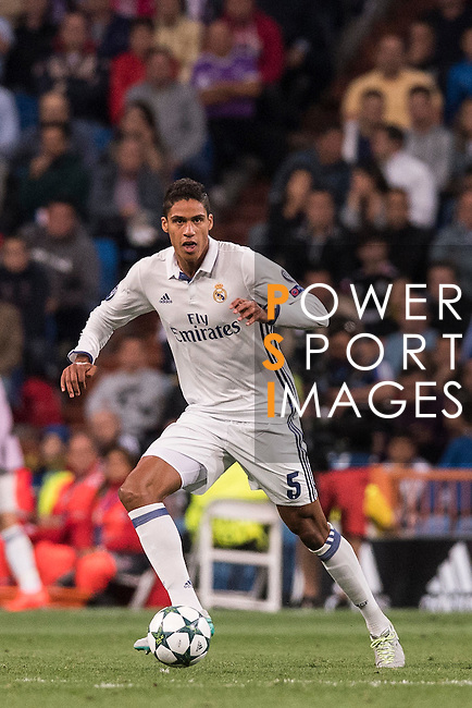 Raphael Varane of Real Madrid in action during their 2016-17 UEFA Champions League match between Real Madrid vs Sporting Portugal at the Santiago Bernabeu Stadium on 14 September 2016 in Madrid, Spain. Photo by Diego Gonzalez Souto / Power Sport Images