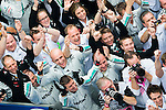 Mercedes AMG Petronas F1 Team Nico Rosberg of Germany celebrates with team members after winning the UBS Chinese F1 Grand Prix at Shanghai International circuit April 15, 2012. Photo by Victor Fraile
