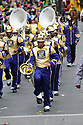 NEW ORLEANS, AL - MARCH 8: The Warren Easton High School marching band performs in the Rex parade on Mardi Gras March 8, 2011 in News Orleans, Louisiana.  Mardi Gras, or Fat Tuesday is the final day of Carnival, and the day before Ash Wednesday, the first day of Lent. It's been celebrated in Louisiana since the late 17th century when it was under French colonial rule. (Photo by Cheryl Gerber/Getty Images)