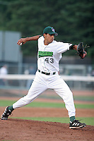 Jamestown Jammers Juan Camilo during a NY-Penn League game at Russell Diethrick Park on July 1, 2006 in Jamestown, New York.  (Mike Janes/Four Seam Images)