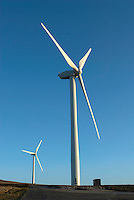 Caton Moor wind farm near Lancaster, Lancashire. Started operating December 1994. 10 turbines rated at 300kw.