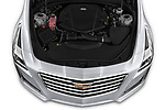 Car stock 2019 Cadillac CTS Luxury 4 Door Sedan engine high angle detail view