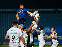 19th March 2021; RDS Arena, Dublin, Leinster, Ireland; Guinness Pro 14 Rugby, Leinster versus Ospreys; Will Griffiths of Ospreys wins the line out ball