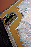 aerial photograph salt ponds, San Francisco bay, California
