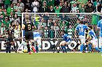 St Johnstone v Celtic…20.08.16..  McDiarmid Park  SPFL<br />Scott Sinclair scores Celtic's second goal<br />Picture by Graeme Hart.<br />Copyright Perthshire Picture Agency<br />Tel: 01738 623350  Mobile: 07990 594431
